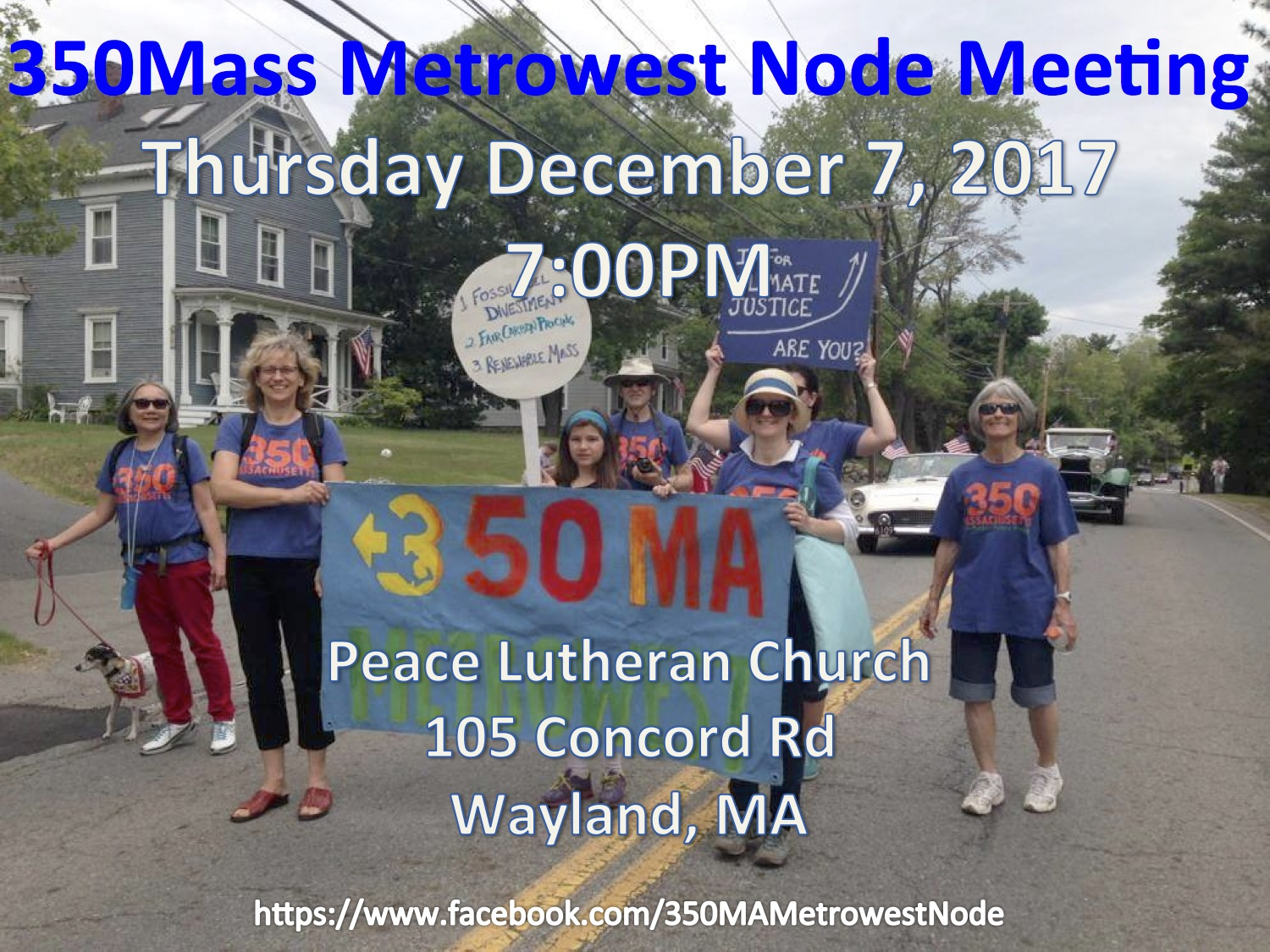 350Mass Metrowest Node December Meeting