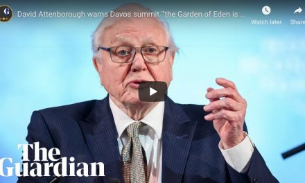 David Attenborough warns Davos 'The Garden of Eden is no more' – video