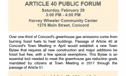 Public Forum on Concord Article 40
